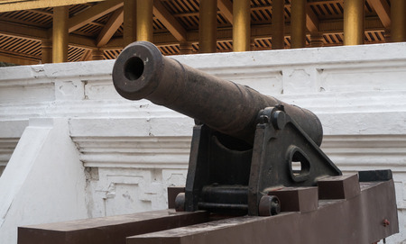 krung: Cannon in Mandalay Royal Palace, Myanmar