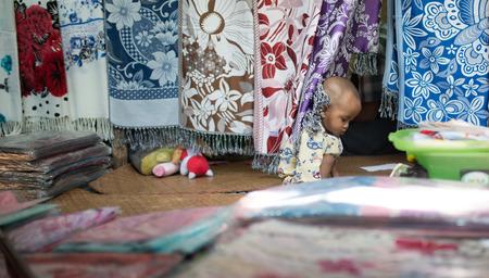 Kyaikhtiyo, Myanmar -  February 24: Unidentified Children in Kyaikhtiyo, Myanmar 24, 2017
