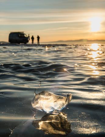 baical: Ice on winter lake Baikal, Russia
