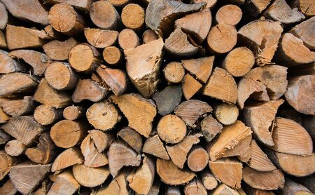 Firewood Closeup for Burning, Wooden firewood