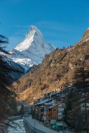 Zermatt Valley and Matterhorn, Zermatt, Switzerland