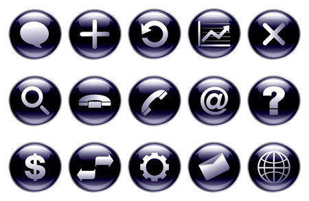 gradation: Modern button set of icons(connection)