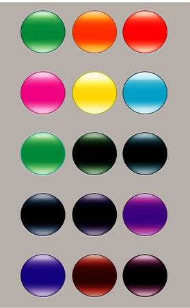 Modern button set Vector