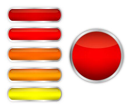 Modern button set Ilustração
