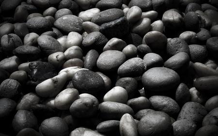 black pebbles: Black stone Stock Photo