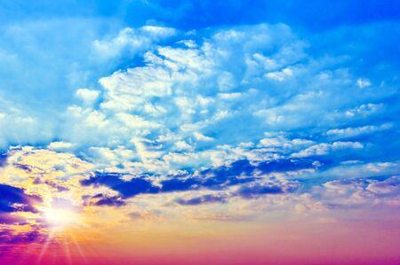 ultraviolet: sunny sky background