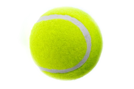 A tennis ball isolates on the white background.