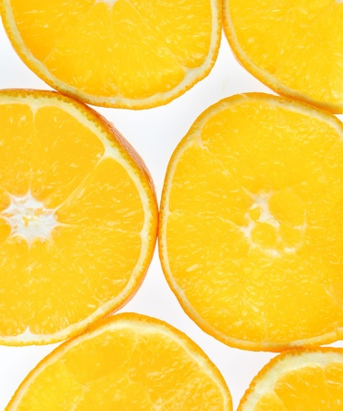 Six pieces orange isolated on the white background. Stock Photo - 9352410