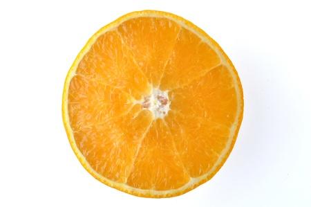 piece orange isolated on the white background.  Stock Photo - 9352396