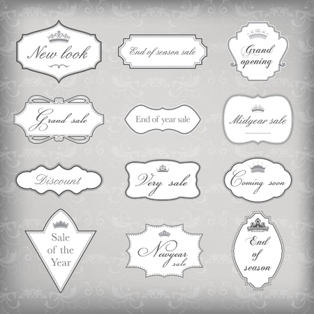 Set of vector vintage frames , EPS 10 Vector. Stock Vector - 10576654