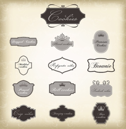Set of vector vintage frames , EPS 10 Vector. Vector