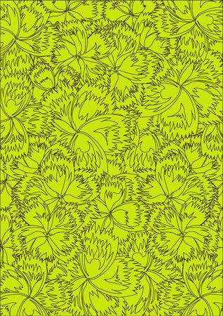 Seamless wallpaper pattern, vector Stock Vector - 11885487