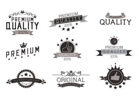 grunge banner: Vintage Style Premium Quality with Nine Design Element , collection 01 Illustration