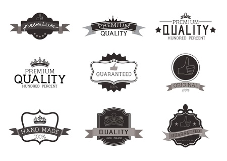 Vintage Style Premium Quality with Nine Design Element , collection 02 Illustration
