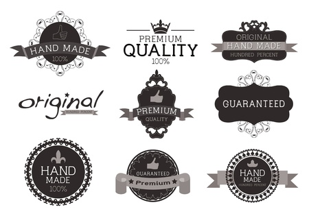 Vintage label Style with Nine Design Element , collection 05