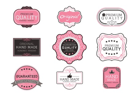 Vintage label Style with Nine Design Element , collection 07 Illustration