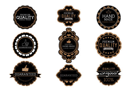 Vintage label Style with Nine Design Element , collection 08 Vector