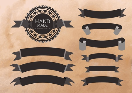 Vintage style of ten banners  Vector illustration eps 10 Stock Vector - 13031942
