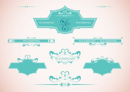 set of vintage framed labels 0001 Stock Vector - 13958638