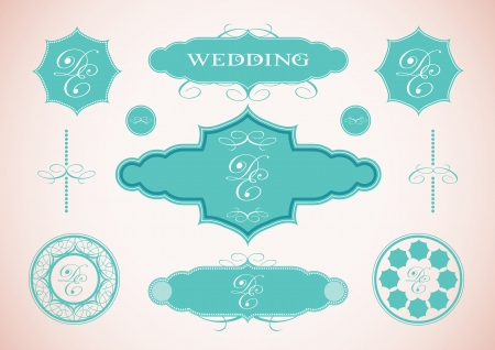 set of vintage framed labels 0003 Vector