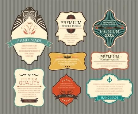 stile liberty: Etichetta Vintage per banner retr�