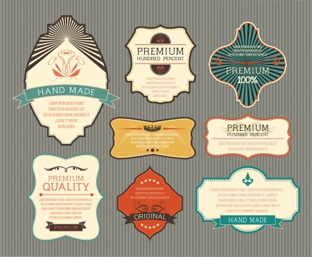 art nouveau frame: Vintage label for retro banners