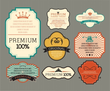 Vintage label for retro banners  Illustration