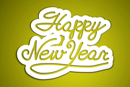 happy new year  handmade calligraphy, vector EPS10 Stock Vector - 19138575