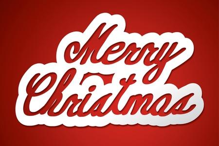 merry christmas  handmade calligraphy, vector EPS10 Stock Vector - 19138582