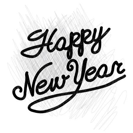 happy new year  handmade calligraphy, vector EPS10 Stock Vector - 19138614