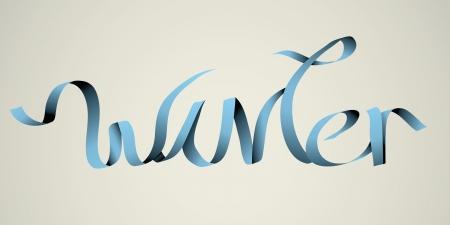 winter  handmade calligraphy, vector EPS10 Stock Vector - 19138518