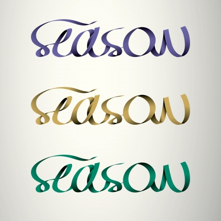 season handmade calligraphy, ribbon vector EPS10 Stock Vector - 19138524