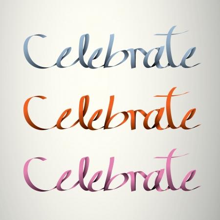 celebreate handmade calligraphy, ribbon vector EPS10 Stock Vector - 19138529