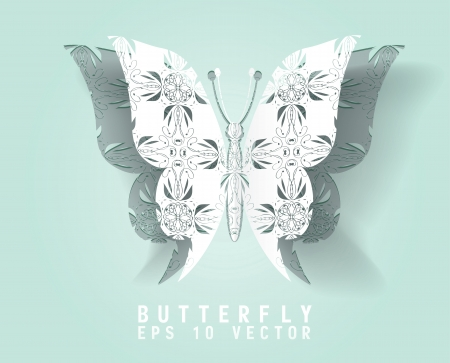 paper cut out: Vector paper cut- out butterfly ,EPS 10