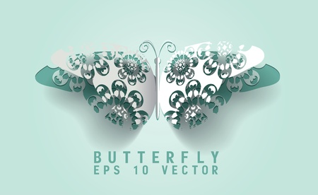 Vector paper cut- out butterfly ,EPS 10 Vector