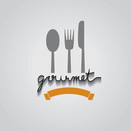 gourmet typo vector, EPS 10 Vector
