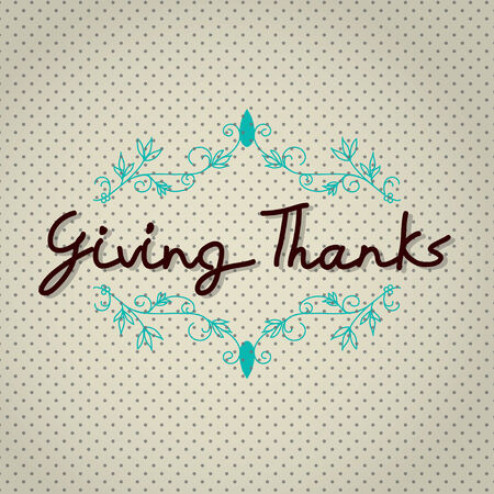 Typo vector with word Giving Thank Vector