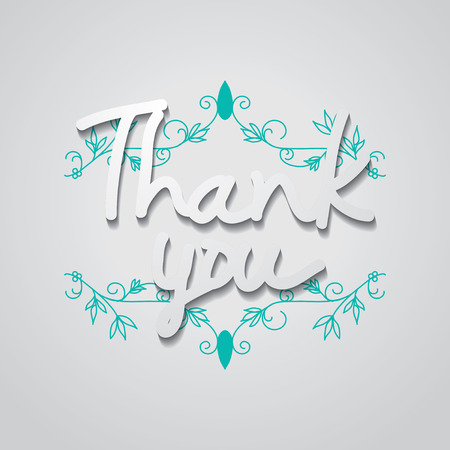 typo: Typo vector with word Thank you