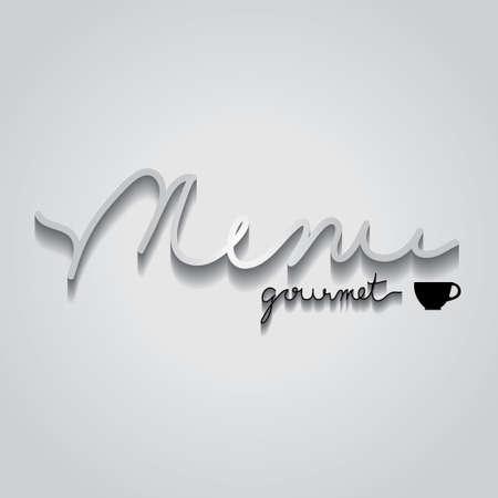 menu gourmet typo vector, EPS 10 Vector