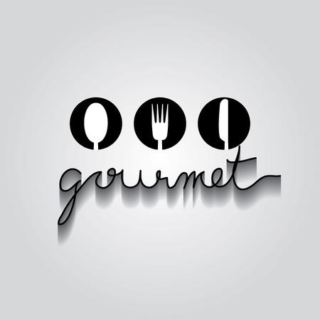 typo: gourmet typo vector, EPS 10