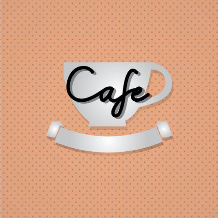 Typo vector with word Cafe Vector