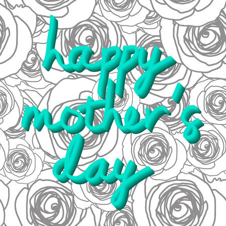 typo: Typo vector with word happy mothers day