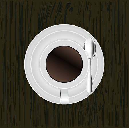 top menu: Top view of coffee cup Illustration