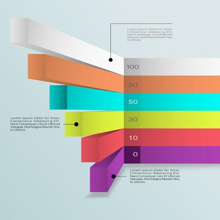 graficas de pastel: Vector.Eps gráfico Infografía Negocio 10