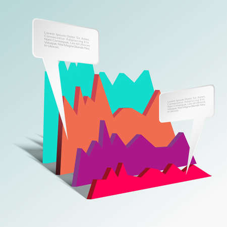 Business Infographics graph Vector.Eps 10 Vector