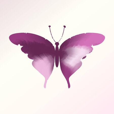 watercolor butterfly vector, Eps 10 Vector