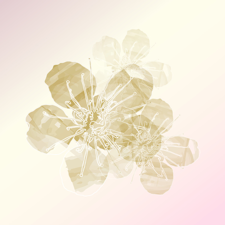 watercolor flower vector ,Eps 10 Vector