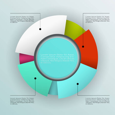 Business pie chart , Infographics circle graph Vector illustration. Vector