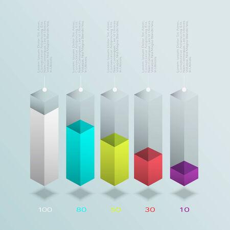 risk management: Business Infographics graph Vector.Eps 10