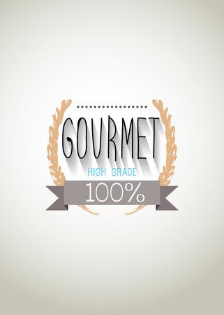 Typo vector with word Gourmet Vector